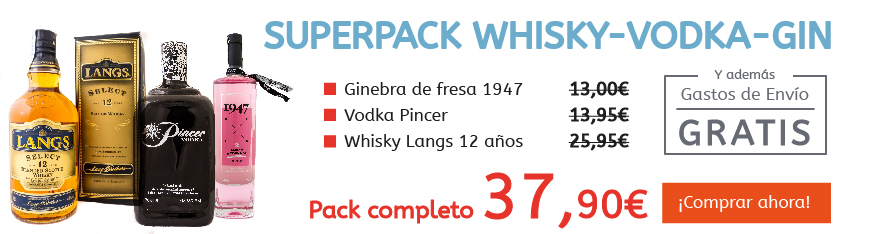 Superpack Whisky-Vodka-Gin